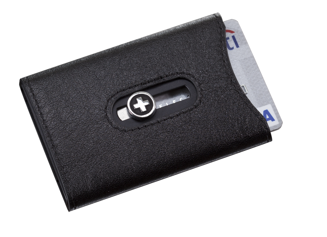 Wagner Swiss Wallet Tuxedo Black Leather